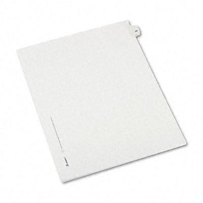 Avery® Allstate-Style Individual Number Legal Index Dividers; Title: 24, Letter, White, 25/pk