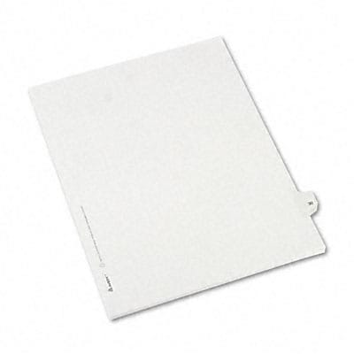 Avery® Allstate-Style Individual Number Legal Index Dividers; Title: 30, Letter, White, 25/pk