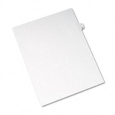 Avery® Allstate-Style Individual Number Legal Index Dividers; Title: 32, Letter, White, 25/pk