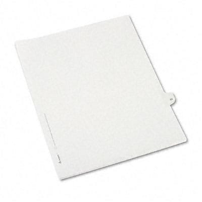 Avery® Allstate-Style Individual Number Legal Index Dividers; Title: 33, Letter, White, 25/pk