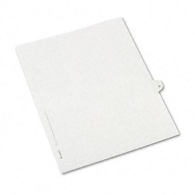 Avery® Allstate-Style Individual Number Legal Index Dividers; Title: 35, Letter, White, 25/pk