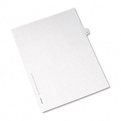 Avery® Allstate-Style Individual Number Legal Index Dividers; Title: 43, Letter, White, 25/pk