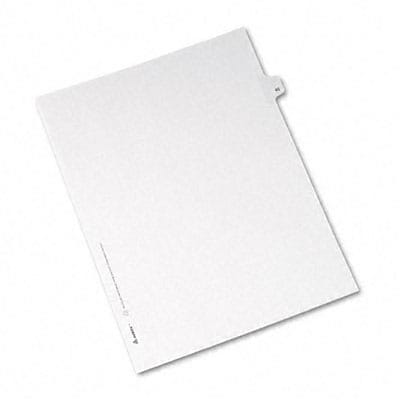 Avery® Allstate-Style Individual Number Legal Index Dividers; Title: 45, Letter, White, 25/pk
