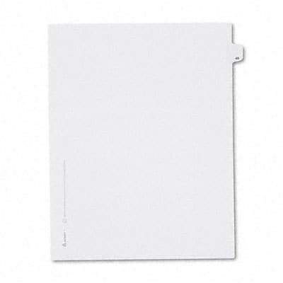Avery® Allstate-Style Individual Number Legal Index Dividers; Title: 48, Letter, White, 25/pk