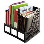 Advantus® Magazine Files; Three Slots, Black