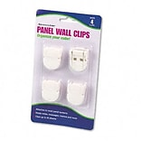 Advantus® Panel Wall Clip; Standard Size, White, 4 per Pack