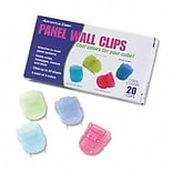 Advantus® Panel Wall Clip; Standard Size, Assorted Colors, 20 per Pack