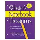 Websters Notebook Thesaurus; Three Hole Punched, Paperback, 80 Pages