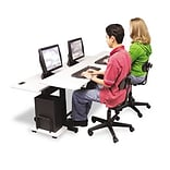 Split-Level Computer Training Table, 72 x 36, Steel Base (Box One)