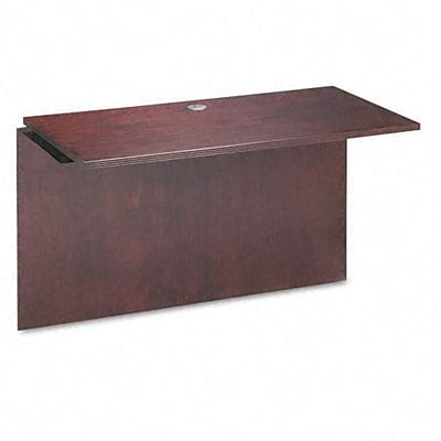 Bridge with Rich Wood Veneer for Desk and Credenza, 48w x 24d x 29h, Mahogany