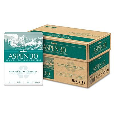 Aspen™ Recycled Copy Paper; 30% Recycled, 8-1/2x11, Letter