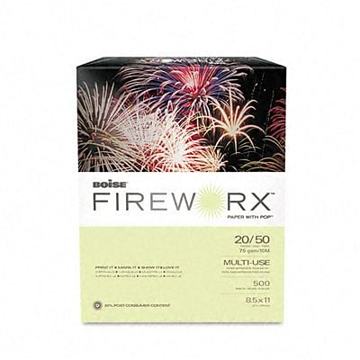 Boise FIREWORX Premium Multi-Use Colored Paper, 8 1/2 x 11, Garden Springs Green™, 500/Ream (MP2201-GS)