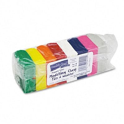 Chenille Kraft® Modeling Clay; Eight Bright Colors