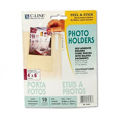 Self-Adhesive Clear Pockets; Photo Holders