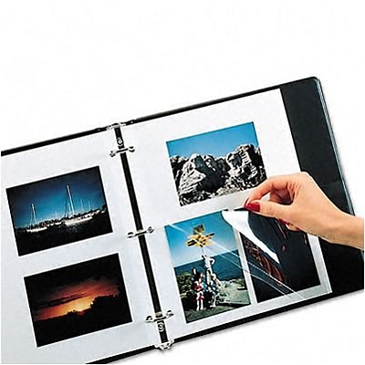 Redi-Mount Photo Sheets, 3-Hole Punched, 11 x 9, 50 Sheets per Box