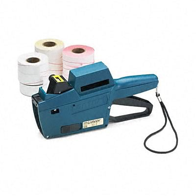 Garvey® Pricemarker Kit; Model 22-8 1-Line/8-Char. , Marker Gun/Ink Roll/9 Rolls Labels