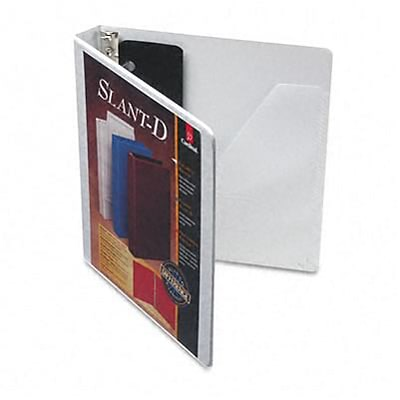 Cardinal® Super-strength™ Slant-D® ClearVue™ Locking 1 D-Ring Binder; View, White, 3-Ring