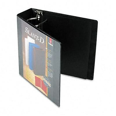 Cardinal® Super-Strength™ Slant-D® ClearVue™ Locking 3 D-Ring Binder; View, Black, 3-Ring