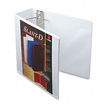 Cardinal® Super-Strength™ Slant-D® ClearVue™ Locking 4 D-Ring Binder; View, White, 3-Ring