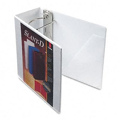 Cardinal® Super-Strength™ Slant-D® ClearVue™ Locking 5 D-Ring Binder; View, White, 3-Ring