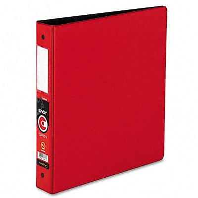 Cardinal® EasyOpen® Locking 1-1/2 Round Ring Binder with Label Holder; Non-View, Red, 3-Ring