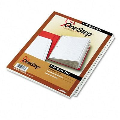 Traditional Onestep Index System, 31-Tab, 1-31, 8-1/2 x 11, WE, 31/set