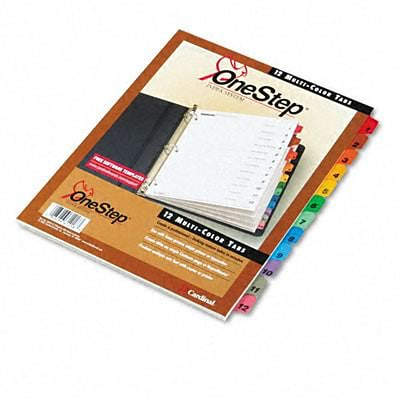 Traditional Onestep Index System, 12-Tab, 1-12, Ltr, Asst, 12/St