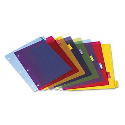 Cardinal® Extra-tough Poly Index Dividers; 8-Tab, Multi, Letter