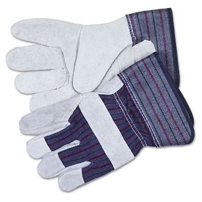 MCR™ Split Leather Palm Gloves; Large