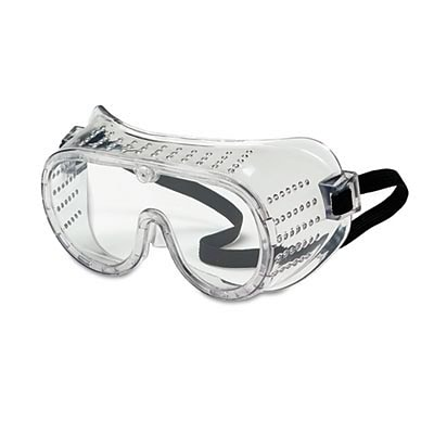 Crews® Safety Goggles-Over Glasses; Economy, Clear Lens