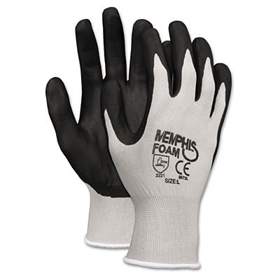 MCR™ Safety Economy Foam Nitrile Coated Gloves; Small, Gray/White