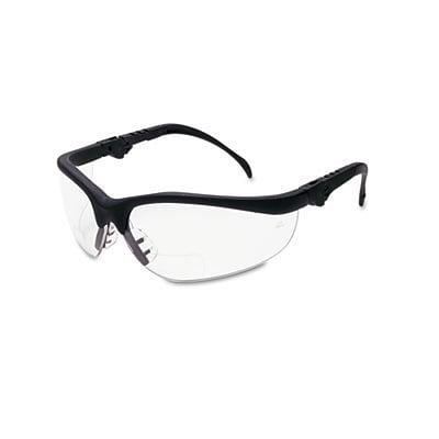 Crews® Klondike Magnifier Safety Glasses; 2.5 Magnifier, Clear Lens
