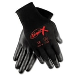 MCR™ Safety Ninja® X Bi-Polymer Coated Gloves; Small, Black