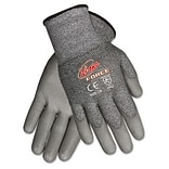 MCR™ Safety Ninja® Force Polyurethane Coated Gloves; Small, Silver