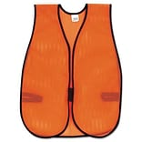 MCR™ Safety Vests; Orange, Polyester Mesh, Hook Closure, 18x47, 1 Size