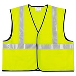 MCR™ Safety Vests; Class 2, Fluorescent Lime w/Silver Stripe, Polyester, 2XL