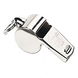Champion Sports® Accessories/Supplies; Sports Whistle, Heavy-Duty Metal, Silver