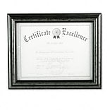 DAX® Document Frames; 8-1/2x11, Antique Charcoal