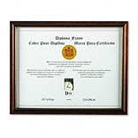 8-1/2x11 Maple Solid Wood Document Frames