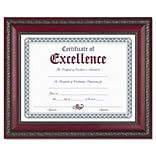 DAX® Document Frames; w/Certificate, 8-1/2x11, Rosewood