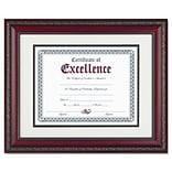 DAX® Document Frames; w/Certificate,  11 x 14, Rosewood