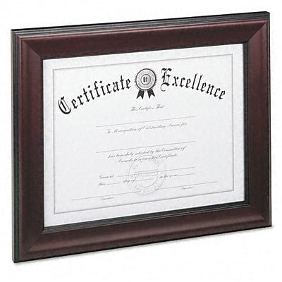 DAX® 8-1/2x11 Solid Wood Document Frames; Rosewood