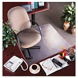 RollaMat Vinyl Chair Mat for Med Pile Carpet, Beveled Edge, 36x48, Clear