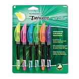 Dixon® Emphasis™ Pocket-Style Highlighters; Chisel Tip, Assorted (BE, GN, OE, PK, PE, YE), 6/PK