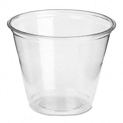 Plastic Cold Cups, Nine Ounces, Clear, 20 Packs of 50 Per Carton
