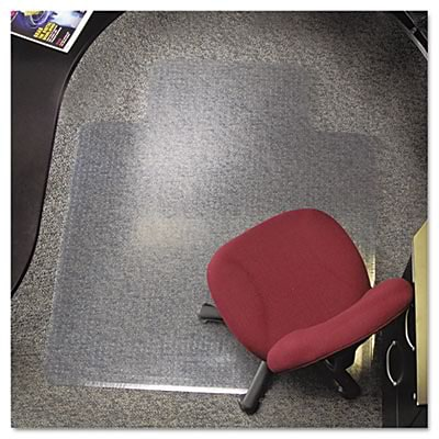 ES Robbins® EverLife™ Chair Mats for High to Extra-High Pile Carpet, 45 X 53, Carpets, Clear (124154)