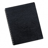 Classic Grain Texture Binding System Covers; 8 1/2 x 11, Navy, 50 per Pack