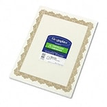Parchment Paper Certificates, 8-1/2 x 11, Optima Gold Border, 25 per Pack