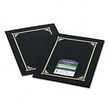 Certificate/Document Cover, Linen Stock, Black, Six per Pack