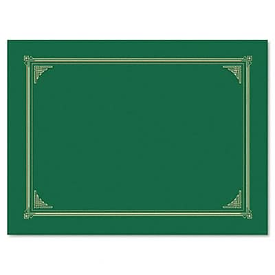Certificate/Document Cover, Linen Stock, Green, Six per Pack